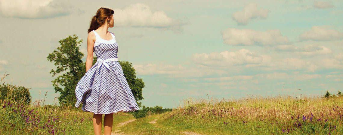 50er Jahre Outfit: Karo Kleid