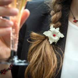 handgemachte Lederblüten